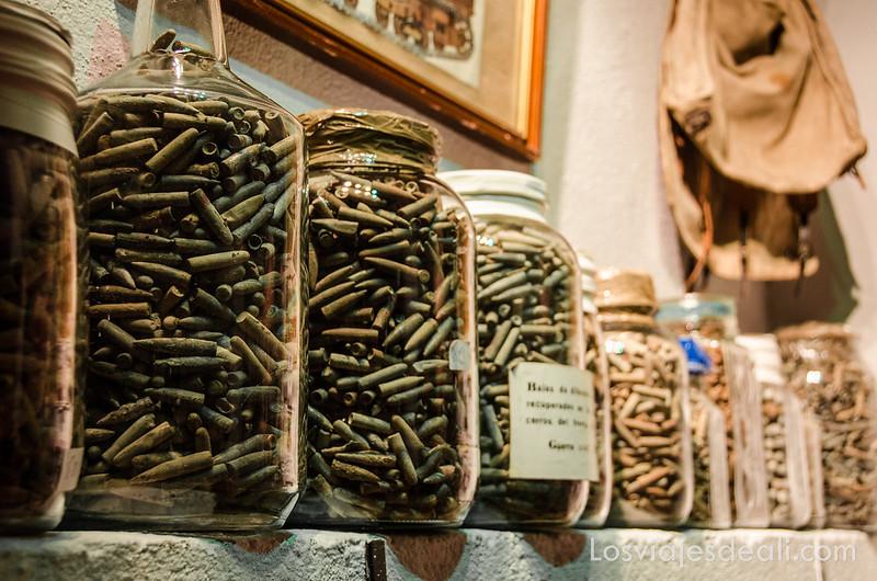 restos recuperados de la batalla del Jarama