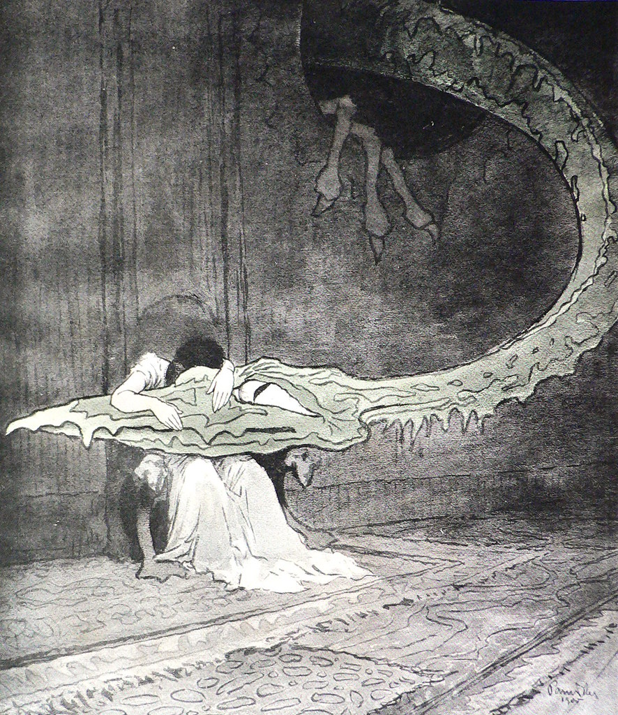 "Jaroslav Panuska - Illustration (8) for Vaclav Riha's ""Tale Of Three Wonderful Friends,"" 1900"