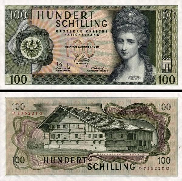 100 Schilling Rakúsko 1969, P145a