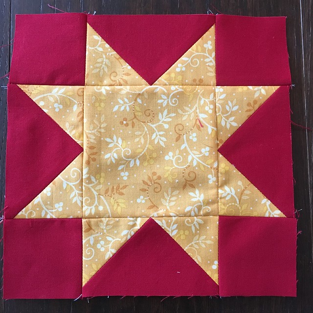 One of many Sawtooth Stars for commission quilt