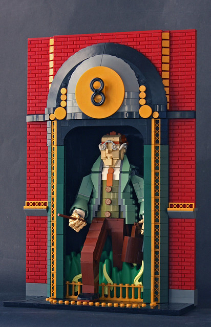 Arthur Weasley arrives to his workplace in Ministry of Magic via Floo Network