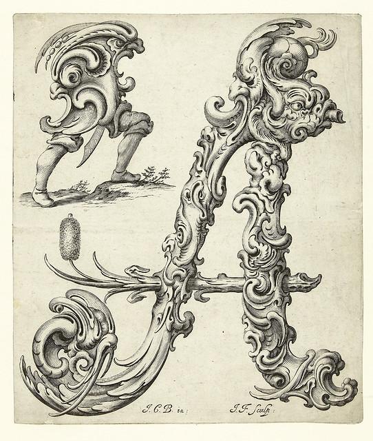 001-Letra A-Libellus Novus Elementorum Latinorum -J. C. Bierpfaff-  Rijksmuseum