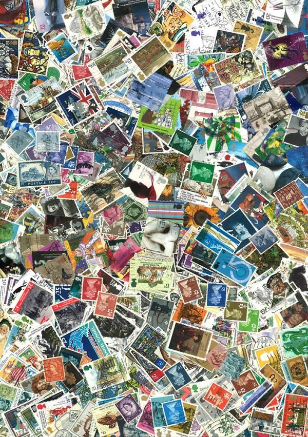 Známky Veľká Británia balíček 1000 ks rôznych