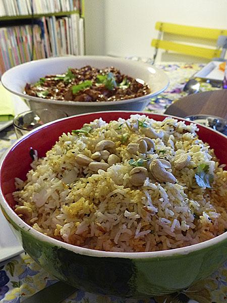 lemon and cashews rice