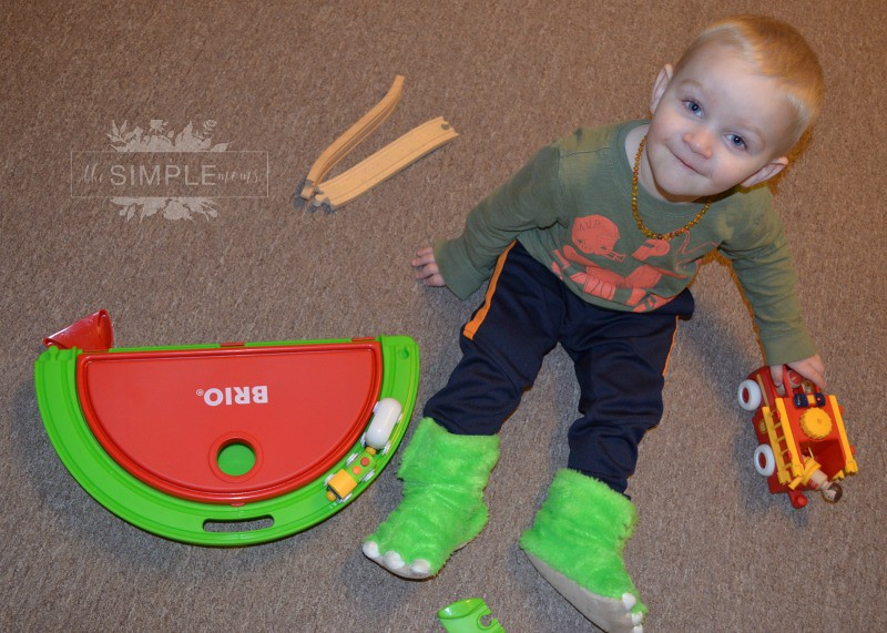 BRIO trains and trucks on The SIMPLE Moms 2