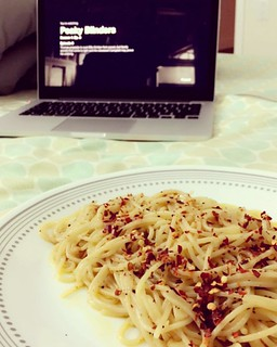 Europe on my bed. Nothing soulful than watching Irish men fight in Peaky Blinders and enjoying self cooked Naples' origin aglio e olio - one of the easiest pastas to cook it very well, and extremely hard to get it great! How was your Monday? | by Sonara Arnav