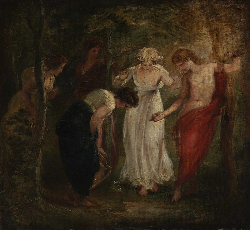 Thomas Stothard - 'Nymphs Discover the Narcissus' (1793)