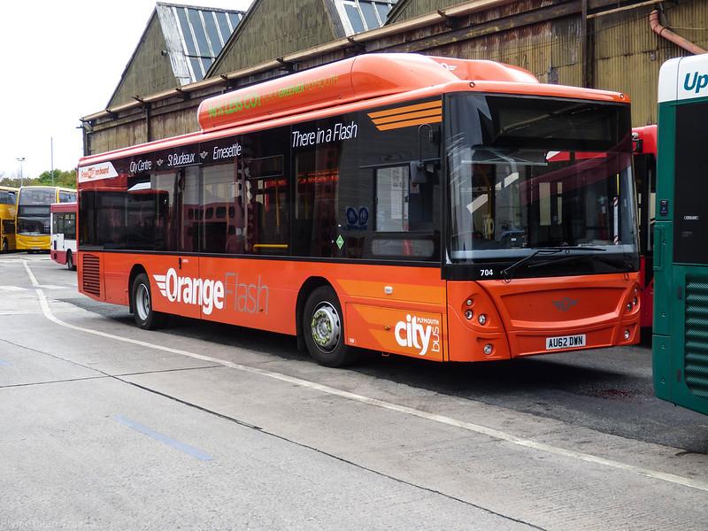Plymouth Citybus 704 AU62DWN