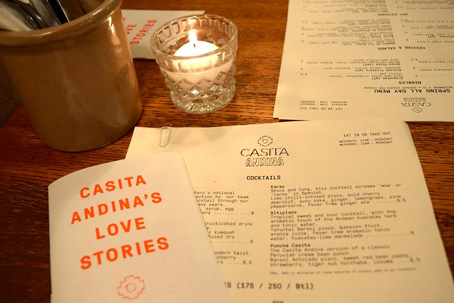 Early Spring Menu at Casita Andina, Soho | www.rachelphipps.com @rachelphipps