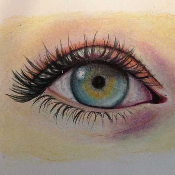 #colored #pencil #eye #drawing #art My First Attempt At Co