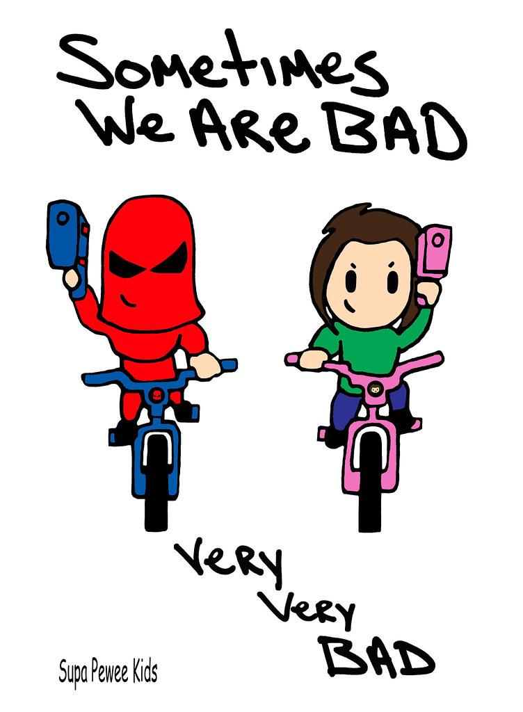 B Pop Mason Valentine Super Pee Wee Kids Bad Boy Girl Superhero Anime Manga Chibi