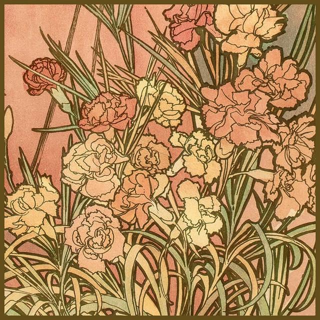 Mucha, Alphonse 'Les Fleurs-The Carnation' 1898 | Flickr ...
