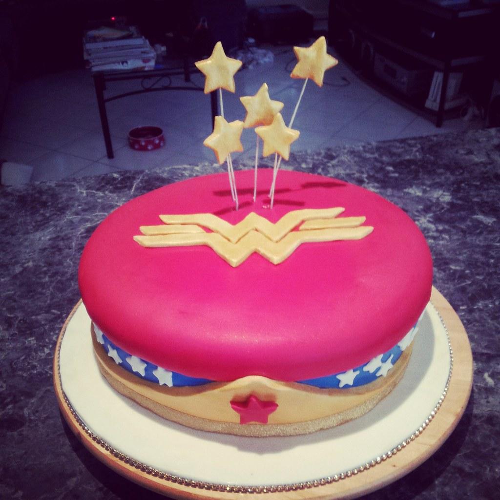 Pink Wonder Woman Cake