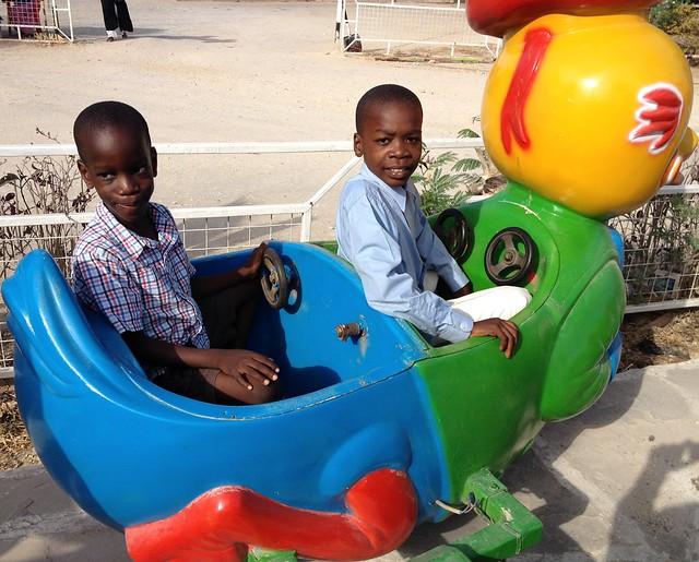 Tim & Rama enjoy the rides