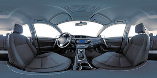 Advertising & marketing photography - 360 degrees virtual tour of vehicle interior