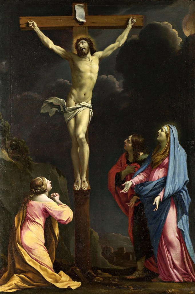 Eustache Le Sueur - Christ on the Cross with the Virgin and Saints