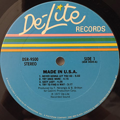 MADE IN U.S.A.:MADE IN U.S.A.(LABEL SIDE-A)