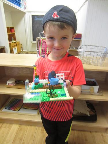 his Lego creation