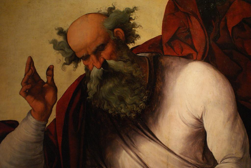 """Lodovico Mazzolino """"Padre eterno"""" (1524) Au musée des beaux arts de Bologne (Pinacoteca)"""