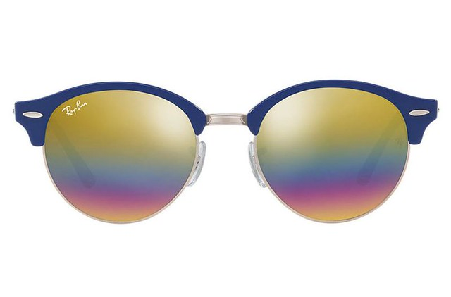 9c0b131215 A clever move from Ray-Ban as they bring together two of its iconic  sunglasses shapes to create into this eye-catching style – the clubround.