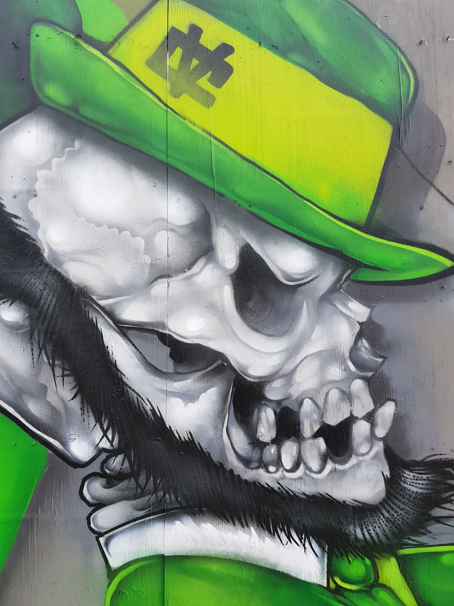 St Patricks Day street art, Cardiff