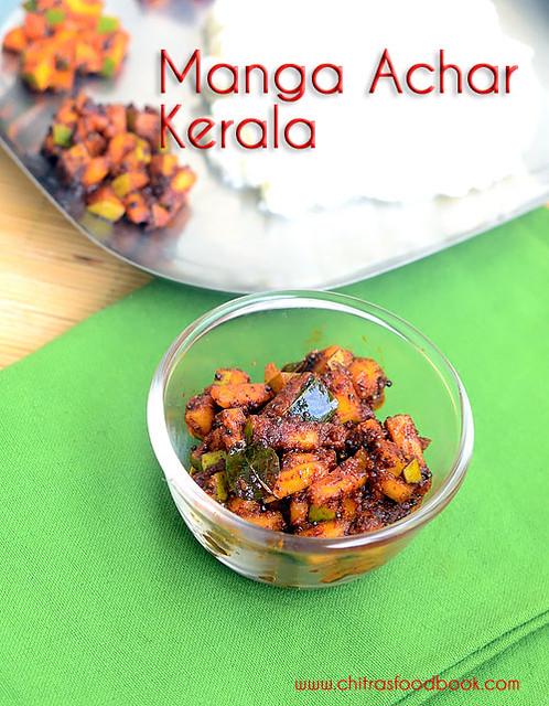 Instant mango pickle recipe - Kerala style manga achar