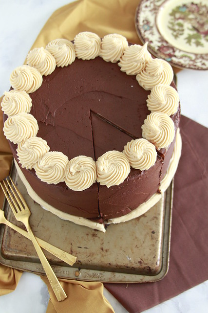 Supreme Chocolate Peanut Butter Cheesecake Cake