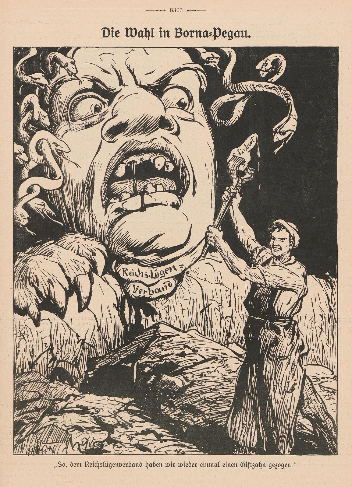 Artist Unknown - The choice in Borna-Pegau, 1914