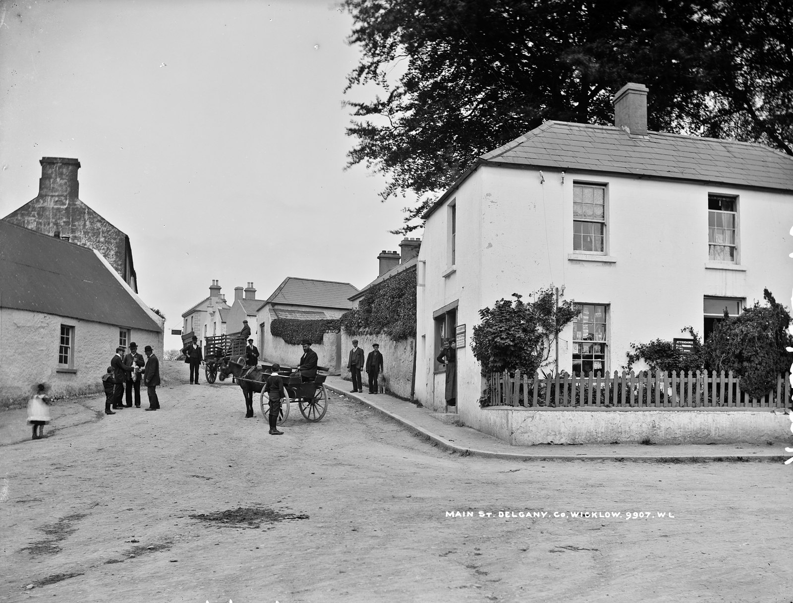 Traffic Jam in Main Street, Delgany, Co. Wicklow | by National Library of Ireland on The Commons