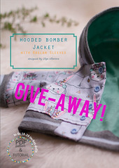 Hooded Bomber Jacket PDF Pattern and Tutorial give-away