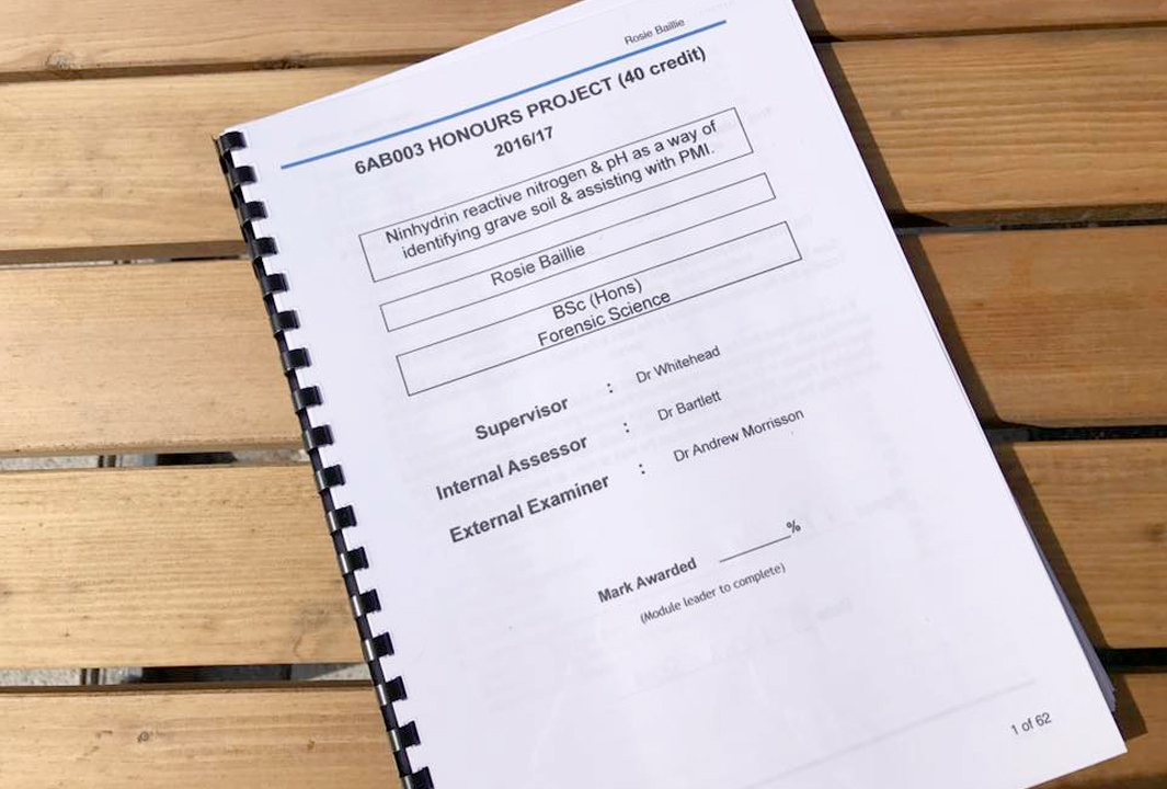 Dissertation hand in