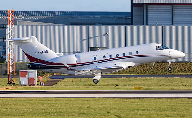 Centreline Air Charter - Embraer EMB-550 Legacy 500 G-HARG @ Cardiff Rhoose