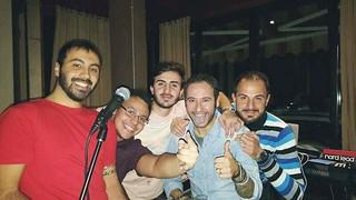 Da sinistra Luca Macina Leone, Francesco Calisi, Davide Colapietro, Francesco Moschetti e Giuseppe Colapietro