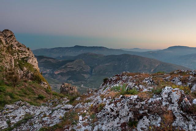 Sicilian rocky landscape.