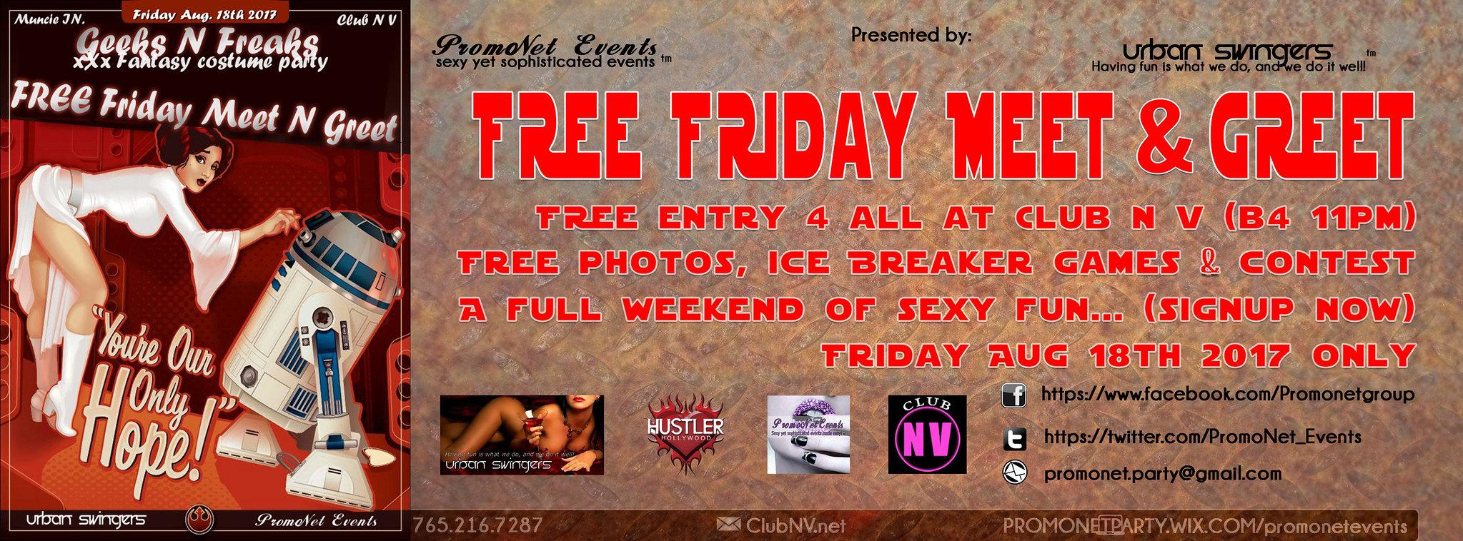 FREE Friday Meet & Greet Aug 18th