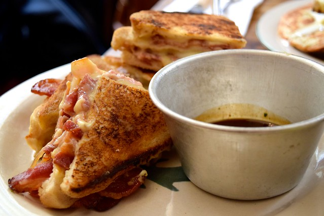 Candied Bacon & Bechamel Sandwiches with Bone Marrow Gravy at Mac & Wild, Liverpool Street | www.rachelphipps.com @rachelphipps