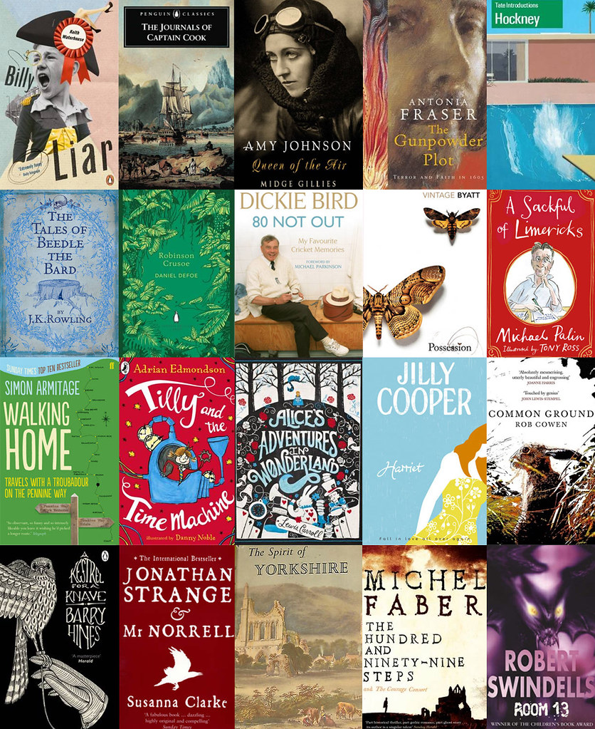 yorkshire reading list, what to read, fifty books to celebrate yorkshire day, yorkshire day books, books written by yorkshire authors, books set in yorkshire