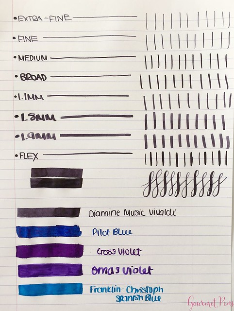 Ink Shot Review Diamine Music Vivaldi @AppelboomLaren 2
