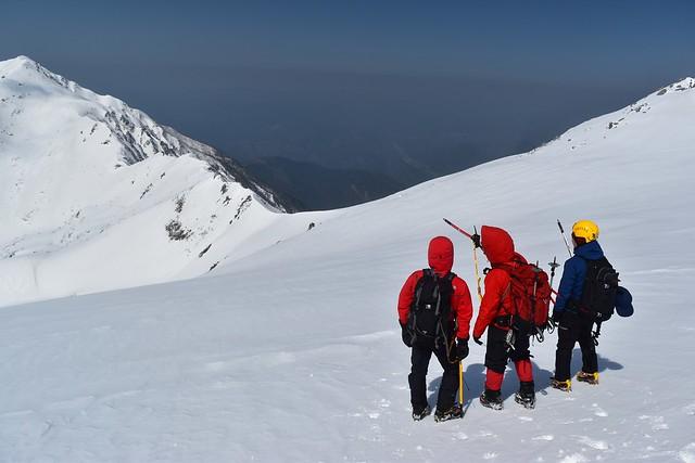 三ノ沢岳へのルートファイティング相談