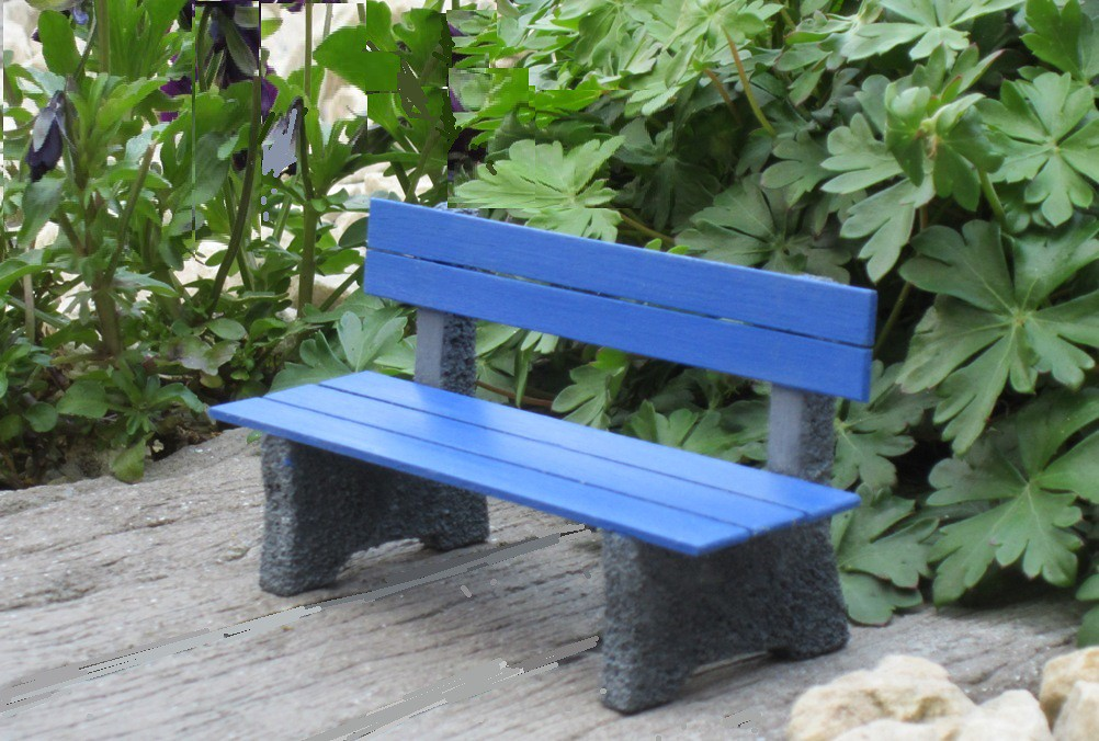 how to make 3d miniature benches