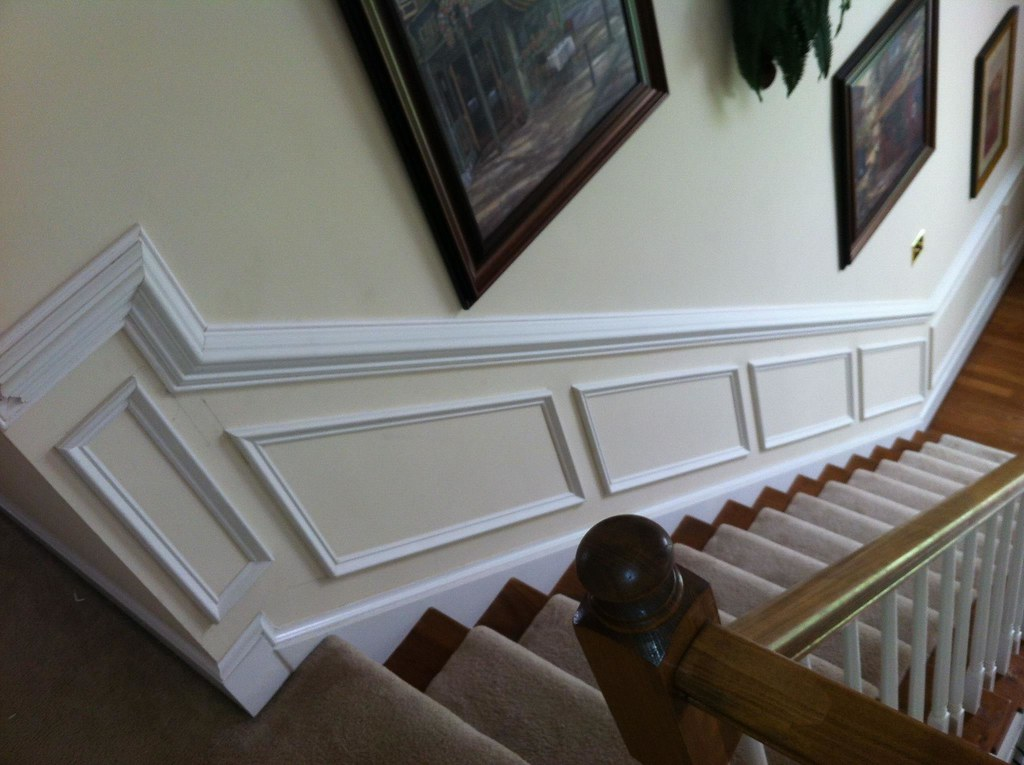 Superb Wainscoting On Stairs | Crown Molding | Flickr