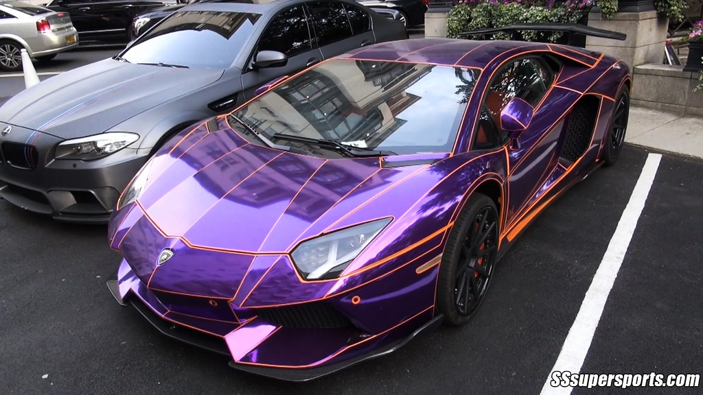 crazy chrome purple lamborghini aventador by sssupersports