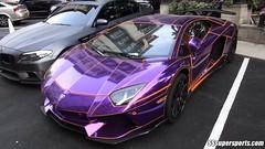 crazy chrome purple lamborghini aventador by sssupersports