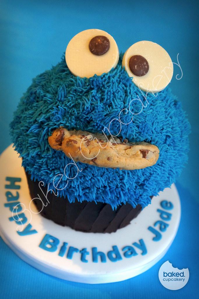 Big Cookie Monster Cake