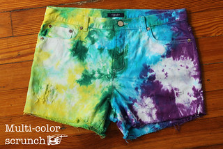 Tie-dyed distress denim shorts cutoffs | by Célèste of Fashion is Evolution