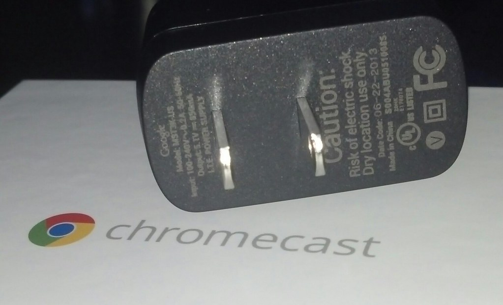 chromecast  power adapter part number is mst3k