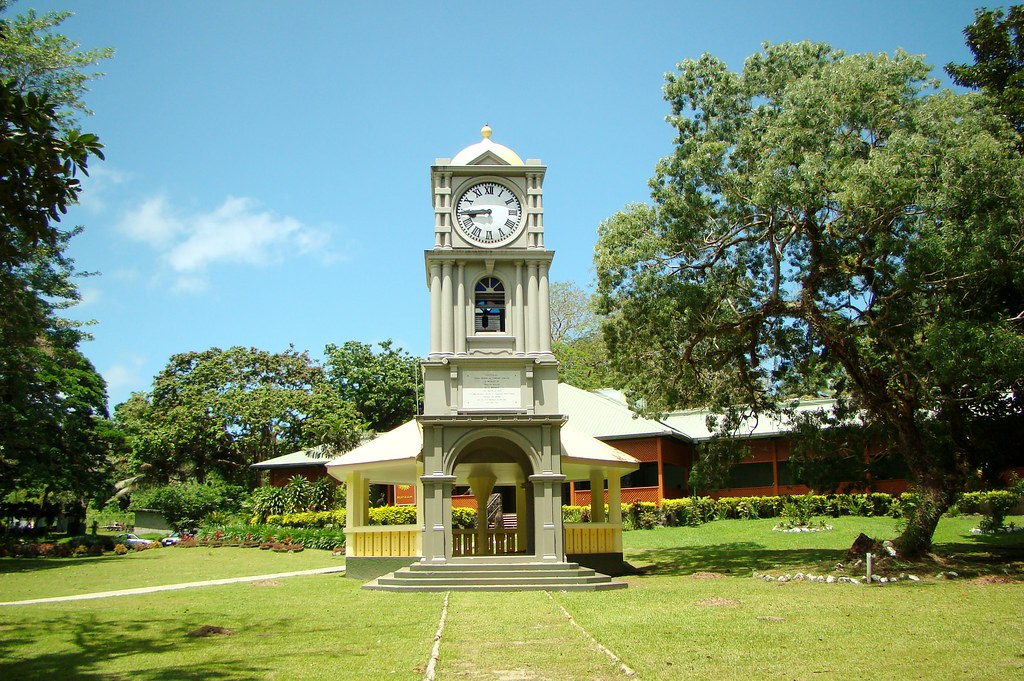 Image result for suva botanical gardens clock tower