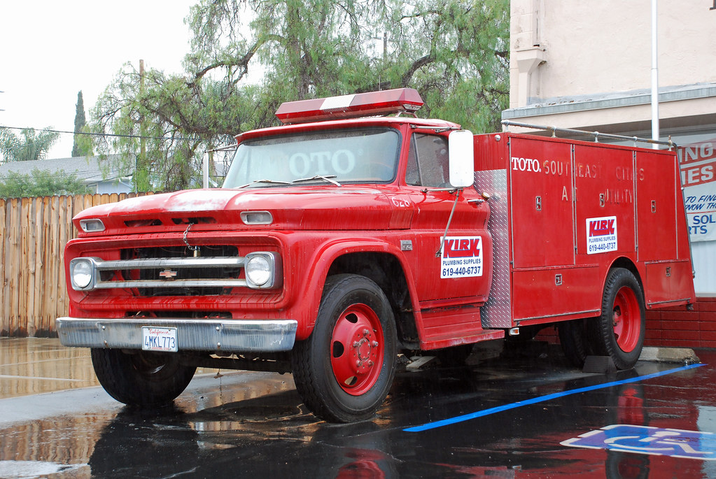 Cal Fire Map >> Chevy Fire Truck | 1960s Chevrolet pumper retired in El Cajo… | Flickr