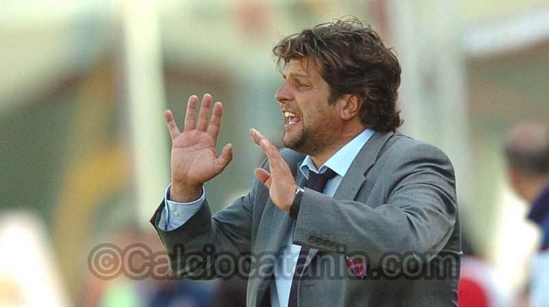 Silvio Baldini, ex tecnico del Catania, oggi alla guida della Carrarese