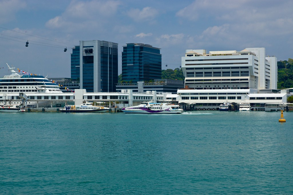 Singapore Harbour Front Centre With Ferry Pier To The Indo